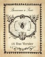 Paris Bees I Framed Print