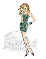 Colorful Fashion IV - Rome Framed Print