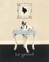 Le Growl Framed Print