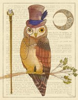 Steampunk Owl II Fine Art Print