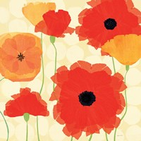 California Poppies and Dots Fine Art Print
