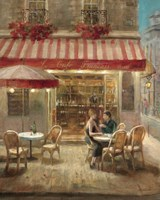 Paris Cafe II Framed Print