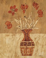 Batik Tulips Fine Art Print