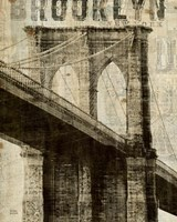 Vintage NY Brooklyn Bridge Fine Art Print