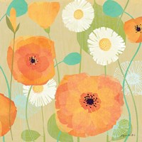 Daisies and Poppies I Fine Art Print