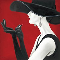Haute Chapeau Rouge II Framed Print