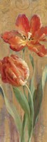 Parrot Tulips on Gold II Fine Art Print