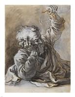 Reclining Old Man Fine Art Print
