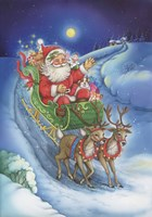 Here Comes Santa Clause Fine Art Print