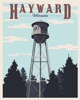 Hayward Water Tower Framed Print