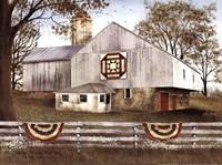 American Star Quilt Block Barn Fine Art Print
