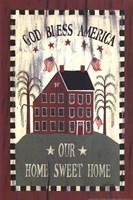 Americana House Framed Print