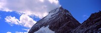 Low angle view of a mountain peak, Mt Matterhorn, Zermatt, Valais Canton, Switzerland Fine Art Print