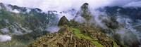 High Angle View of Machu Picchu, Peru Fine Art Print
