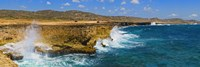 Waves breaking at the coast, Aruba Fine Art Print