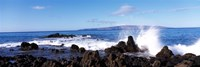 Waves breaking on the rocks, Makena Beach, Maui, Hawaii, USA Fine Art Print