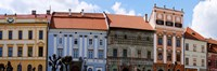 Low angle view of old town houses, Levoca, Slovakia Fine Art Print