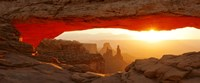 Mesa Arch at sunset, Canyonlands National Park, Utah, USA Framed Print