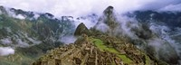 High Angle View of Machu Picchu, Peru Fine Art Print