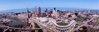 Aerial View Of Jacobs Field, Cleveland, Ohio, USA Fine Art Print