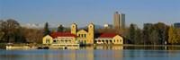 Buildings at the waterfront, City Park Pavilion, Denver, Colorado, USA Fine Art Print