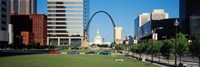 Buildings in a city, Gateway Arch, Old Courthouse, St. Louis, Missouri, USA Fine Art Print