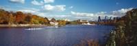 Boat in the river, Schuylkill River, Philadelphia, Pennsylvania, USA Fine Art Print