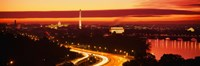 Sunset, Aerial, Washington DC, District Of Columbia, USA Fine Art Print