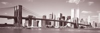 Brooklyn Bridge, Hudson River, NYC, New York City, New York State, USA Fine Art Print