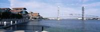 Bridge Over A River, Main Street, St. Johns River, Jacksonville, Florida, USA Fine Art Print