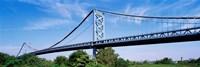 USA, Philadelphia, Pennsylvania, Benjamin Franklin Bridge over the Delaware River Fine Art Print