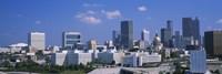 View of skyscrapers in Atlanta on a sunny day, Georgia, USA Fine Art Print