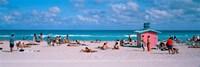 Tourist on the beach, Miami, Florida, USA Fine Art Print