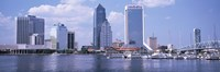 Skyscrapers at the waterfront, Main Street Bridge, St. John's River, Jacksonville, Florida, USA Fine Art Print
