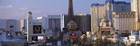 Hotels on the Strip Las Vegas NV Fine Art Print