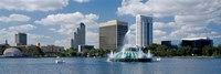 Buildings at the waterfront, Lake Eola, Orlando, Florida, USA Fine Art Print