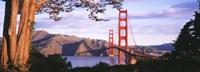 Golden Gate Bridge with Mountains Fine Art Print