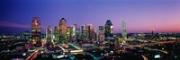 Night, Dallas, Texas, USA Framed Print