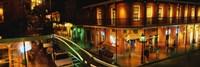 Bourbon Street at night, New Orleans LA Fine Art Print