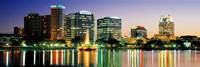 Skyline At Dusk, Orlando, Florida, USA Fine Art Print
