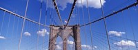 Brooklyn Bridge Cables and Tower, New York City Fine Art Print