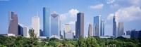 Houston Skyline, Texas Framed Print