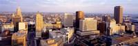 High angle view of a cityscape, Buffalo, New York State, USA Fine Art Print