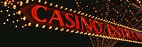 Low angle view of neon sign, Las Vegas, Nevada, USA Fine Art Print