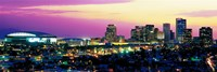 Phoenix Skyline at Night Framed Print