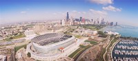 Aerial view of a stadium, Soldier Field, Chicago, Illinois Framed Print