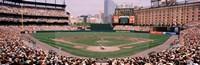 High angle view of a baseball field, Baltimore, Maryland Fine Art Print