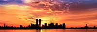 US, New York City, skyline, sunrise Fine Art Print