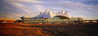 Clouded sky over an airport, Denver International Airport, Denver, Colorado, USA Fine Art Print