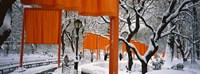 The Gates Project in Snow Fine Art Print